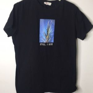 Boys black short sleeve tee shirt size m